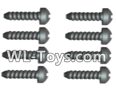 Wltoys 18428 RC Car Parts-0426 Phillips Round head Self-tapping screws Parts-ST2X10PB(8pcs),Wltoys 18428 Parts