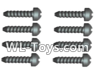 Wltoys 18428 RC Car Parts-0427 Phillips Round head Self-tapping screws Parts-ST2X12PB(8pcs),Wltoys 18428 Parts