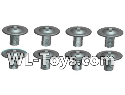Wltoys 18428 RC Car Parts-0429 Round head With media screw-ST1.8X3PWB(8pcs),Wltoys 18428 Parts