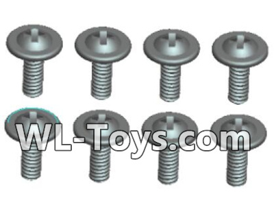 Wltoys 18428 RC Car Parts-0430 Phillips Round head With media screw-ST2.3X6PWB(8pcs),Wltoys 18428 Parts