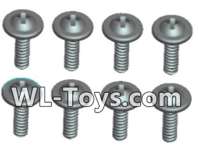 Wltoys 18428 RC Car Parts-0431 Phillips Round head Self-tapping screws Parts With media-ST2X10PWB(8pcs),Wltoys 18428 Parts