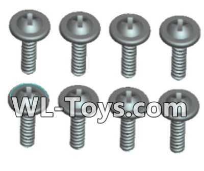 Wltoys 18428 RC Car Parts-0432 Phillips Round head Self-tapping screws Parts With media-ST2X14PWB(8pcs),Wltoys 18428 Parts