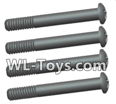 Wltoys 18428 RC Car Parts-0433 Phillips Round head lower half tooth screws Parts-ST2X16PB(4pcs),Wltoys 18428 Parts