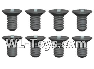 Wltoys 18428 RC Car Parts-0434 Phillips Countersunk head screws Parts-3X5kB(8pcs),Wltoys 18428 Parts