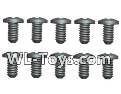 Wltoys 18428 RC Car Parts-A303-32 Phillips Round head Self-tapping screws Parts-ST1.7X6PB(8pcs),Wltoys 18428 Parts