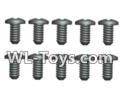 Wltoys 18428 RC Car Parts-A929-62 Phillips Round head screws Parts-2.3X5(8pcs),Wltoys 18428 Parts