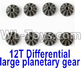 Wltoys 12429 RC Car Parts-Metal 12T Differential large planetary Gear Parts(8pcs)-(Hardware)-12429.1156,Wltoys 12429 Parts