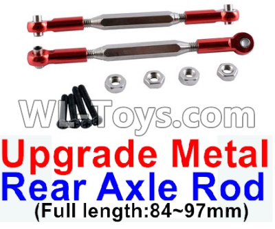 Wltoys 12429 RC Car Upgrade Metal Rear axle Rod(2pcs)-Red-(Full length-84-97mm)-12429.1172,Wltoys 12429 Parts