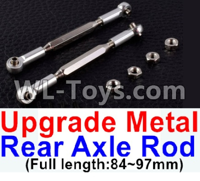 Wltoys 12429 RC Car Upgrade Metal Rear axle Rod(2pcs)-Silver-(Full length-84-97mm)-12429.1172,Wltoys 12429 Parts