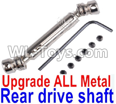 Wltoys 12429 RC Car Upgrade Metal Rear Drive shaft assembly Parts-Silver-0024 -0025,Wltoys 12429 Parts