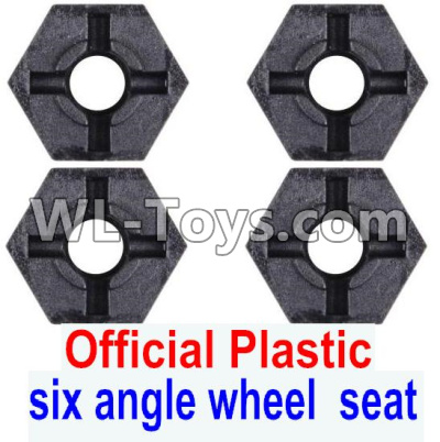 Wltoys 12429 RC Car Parts-Plastic Combination device,six angle wheel seat(4pcs)-0044,Wltoys 12429 Parts