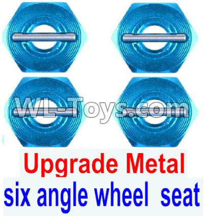 Wltoys 12429 RC Car Upgrade Metal Combination device,six angle wheel seat(4pcs)-0044,Wltoys 12429 Parts