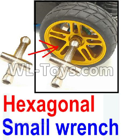 Wltoys 12429 RC Car Parts-Hexagonal small wrench(Can be used for M2,M2.5,M3,M4 nut specifications)-0046,Wltoys 12429 Parts