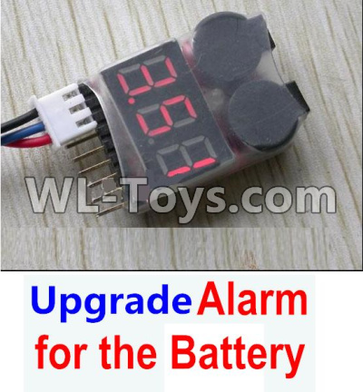 Wltoys 12429 RC Car Upgrade Alarm for the Battery,Can test whether your battery has enouth power-0123,Wltoys 12429 Parts