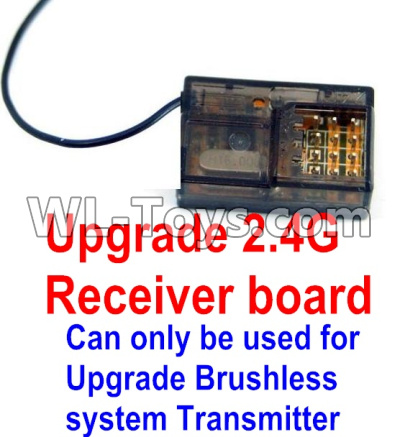 Wltoys 12429 RC Car Upgrade 2.4G Receiver board(Can only be used for Upgrade Brushless set,You must buy the upgrade Transmitter together to use for Upgrade Brushless set),Wltoys 12429 Partsories,1:12 Scale 4wd,