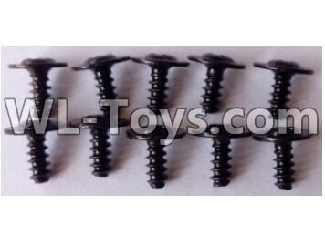 Wltoys 12429 RC Car Parts-Round head with self-tapping screws Parts M2.6X6(10pcs)-L959-62,Wltoys 12429 Parts