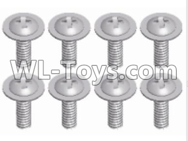 Wltoys 12429 RC Car Parts-Phillips head with screw-2.5X8-PWM-12428.0125,Wltoys 12429 Parts