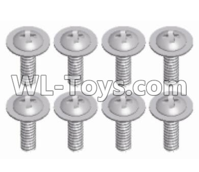 Wltoys 12429 RC Car Parts-Phillips pan head screw-M2X10-PMW-W4-12428.0484,Wltoys 12429 Parts