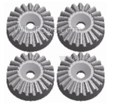 Wltoys 144001 Metal 16T Differential large planetary gear Parts. Total 4pcs. Hardware. 144001.1155.