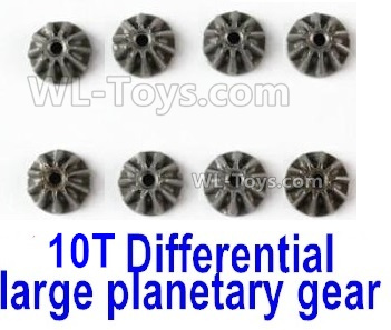 Wltoys 144001 Metal 10T Differential large planetary gear Parts. Total 8pcs. Hardware. 144001.1271.