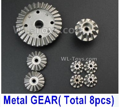 Wltoys 144001 Whole Metal Kit Parts. Whole Metal Differential Gear Parts. Total 8pcs.