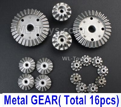 Wltoys 144001 Whole Metal Kit Whole Metal Differential Gear Parts. Total 16pcs.