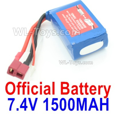 Wltoys 144001 Battery Parts. 7.4V 1500MA 25C Lipo Battery Packs. Size 61x33x20mm. A959-B-23.