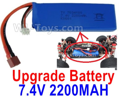 Wltoys 144001 Upgrade Battery. 7.4V 2200mah 25C Battery-1pcs-100X33X15mm-115.5g.