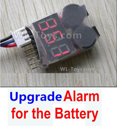 Wltoys 144001 Upgrade Alarm Parts for the Battery, Can test whether your battery has enough power.