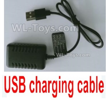 Wltoys 144001 USB Charger and Balance charger Parts. 7.4V 2000mA USB Charger. USB-1.1374.