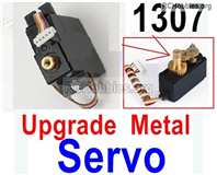 Wltoys 144001 Upgrade Metal Servo Parts. The Servo Gear is Metal Material.