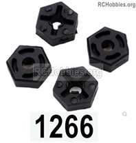 Wltoys 144001 Hex wheel seat assembly Parts. Total 4pcs. 144001.1266.