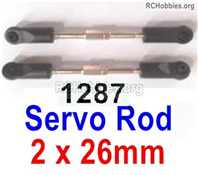 Wltoys 144001 Servo Rod Parts. Total 2pcs. The size is 2x26mm. 144001.1287.