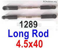 Wltoys 144001 Long rod assembly Parts. Total 2pcs. The size is 4.5x40mm. 144001.1289.