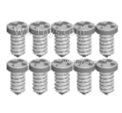 Wltoys 144001 Screws Parts. Cross Pan head tooth screws. The size is 2X7PB. Total 8pcs. A979-4.0582.