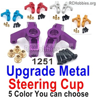 Wltoys 144001 Upgrade Metal Steering Cup Parts. Total 2pcs, 4 Color you can choose