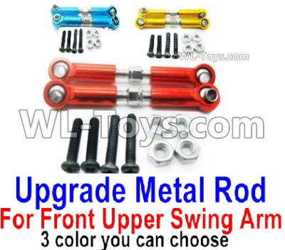 Wltoys 144001 Upgrade Metal Rod Parts for the Front and Upper Swing Arm-2pcs-3 Color you can choose