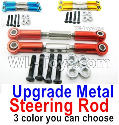 Wltoys 144001 Upgrade Metal Steering Rod Parts for the Servo. Total 2pcs. 3 Colors you can choose
