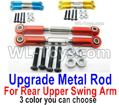 Wltoys 144001 Upgrade Metal Rod Parts for the Rear and Upper Swing Arm. Total 2pcs. 3 Colors you can choose