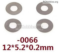 Wltoys 144001 Gasket Parts. The size is 12X5.2X0.2. Total 4pcs. 12428.0066.