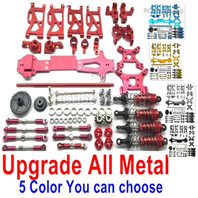 Wltoys 144001 Upgrade All Metal Assembly kit Parts. Nearly Include all Upgrade Metal parts for the 144001 Car. Total 20 kits, 5 Color you can choose.