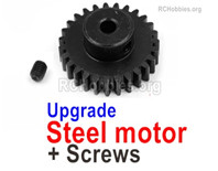 Wltoys 144001 Upgrade Steel Motor Gear with Set Screws. Steel material is harder and more wear-resistant.