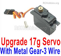 Wltoys 144001 Upgrade Metal Servo Parts. The Gear is made of Metal Material.,The Torque is 17g with 3 Wire.