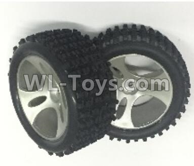 Wltoys 18401 RC Car Parts-Whole wheel unit(Include the Wheel hub,tire lether)-2 set-0896,Wltoys 18401 Parts