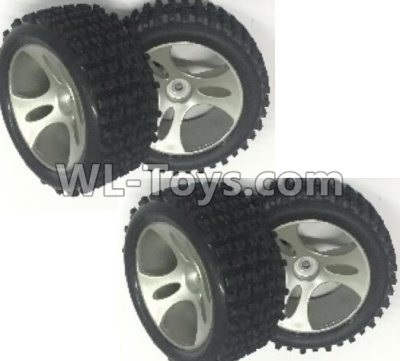 Wltoys 18401 RC Car Parts-Whole wheel unit(Include the Wheel hub,tire lether)-4 set-0896,Wltoys 18401 Parts