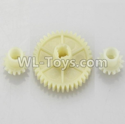 Wltoys 18401 RC Car Parts-Reduction gear with 2 small gear-A949-24,Wltoys 18401 Parts