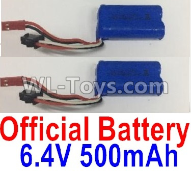 Wltoys 18401 RC Car Parts-Battery-6.4V 500mAh Battery Parts(2pcs)-0914,Wltoys 18401 Parts