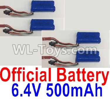 Wltoys 18401 RC Car Parts-6.4V 500mAh Battery Parts(4pcs)-0914,Wltoys 18401 Parts