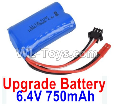 Wltoys 18401 RC Car Upgrade Battrey Parts-6.4V 750mAh Battery Parts(1pcs)-52X32X16mm-0914,Wltoys 18401 Parts
