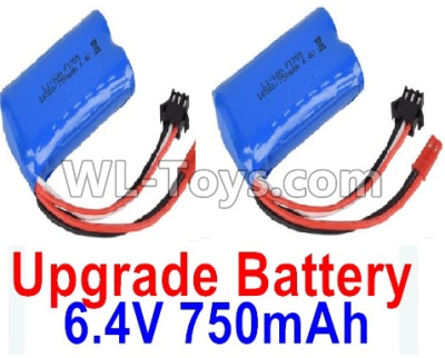 Wltoys 18401 RC Car Upgrade Battery Parts-6.4V 750mAh Battery Parts(2pcs)-52X32X16mm-0914,Wltoys 18401 Parts